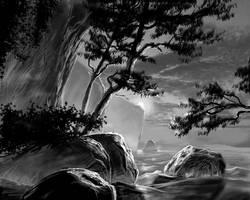 coast view - digital study by David-McCamant