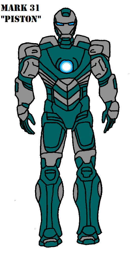 Iron Man Mark 31 Piston by bthacker501 on DeviantArt