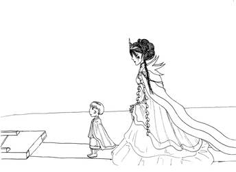 Siraya and Eeziol by Naischa