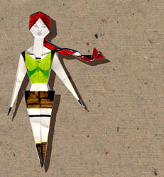 Origami Lara Croft by Kaorikiki