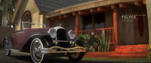 3d clasic car