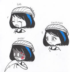 Inktober day 11 - 3 expressions