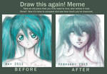 Draw This Again Meme: Miku-chan
