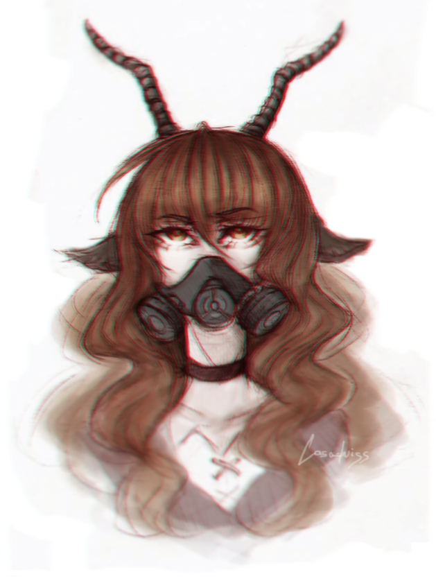 Gasmask Goat by Casadriss