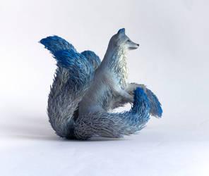 Fox kitsune statue - handmade OOAK