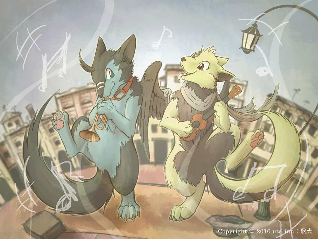 Hey, Let's play the music by uta-inu