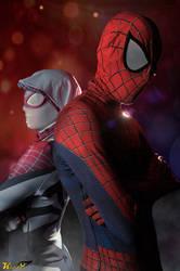 spiderman y spidergwen