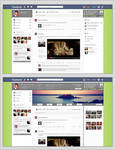 Facebook Redesign Simply Mockup