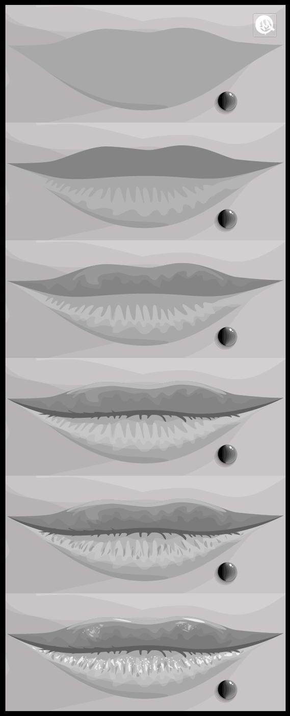 Illustrator Tutorial Lips Logo Design Vector