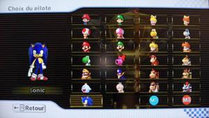 Sonic in Mario Kart Wii
