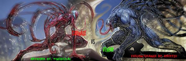 Carnage Vs Venom by Kreet31
