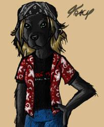 Black Labrador Anthro