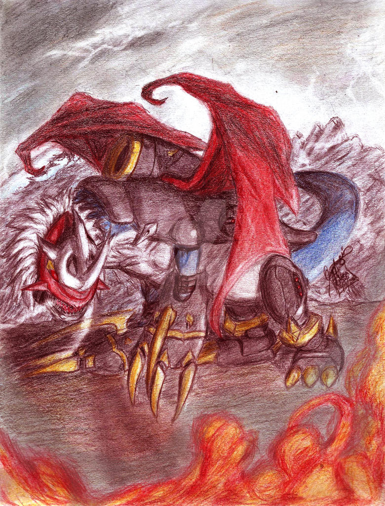 Imperialdramon Dragon Mode by banlioncourt on DeviantArt