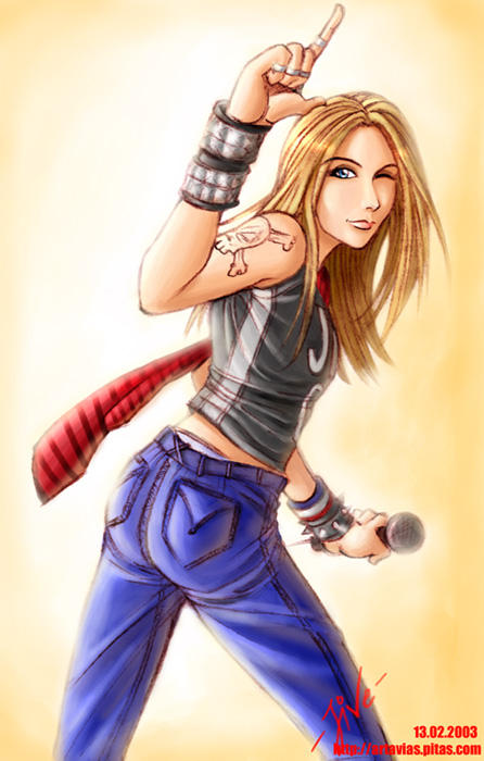 Avril anime by Avrilfanatics