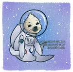 space seal [on redbubble] by GirlWithTheGreenHat
