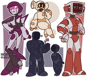 More 'Bots Of Cyber Seattle by GirlWithTheGreenHat