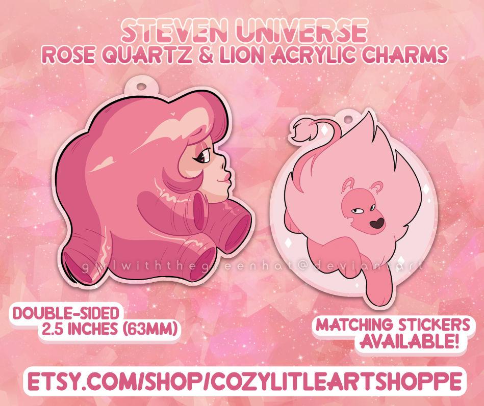SU - Rose Quartz n Lion Charms