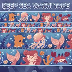 [read des.] deep sea washi tape