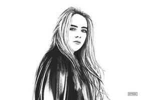 Billie Eilish - Portrait Artwork by Demorie-Art