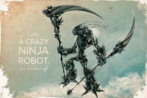 Crazy Ninja Robot V2 by ChasingArtwork