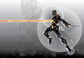 Iron Man DeRezzed by ChasingArtwork