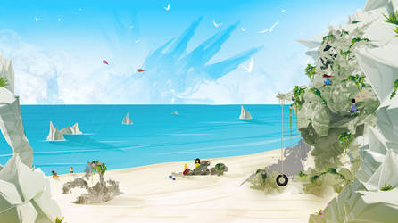 Day at the Beach by ChasingArtwork