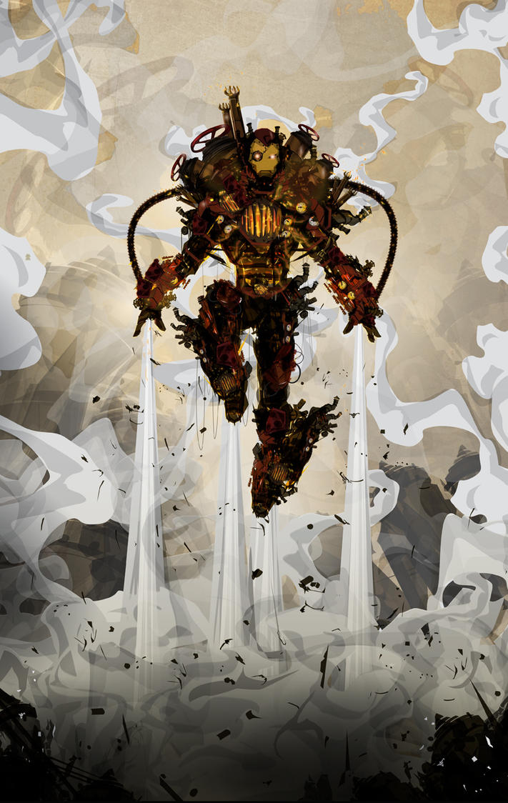 Steampunk Iron Man by ChasingArtwork