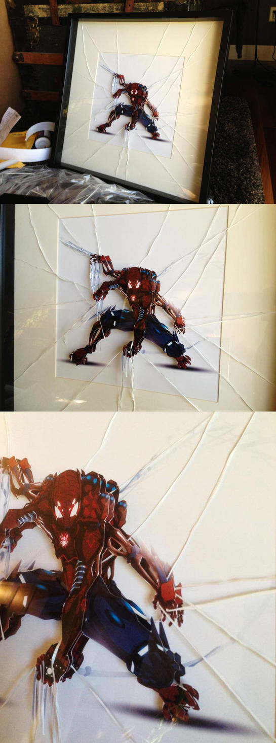 Spidey Paper Tole by ChasingArtwork