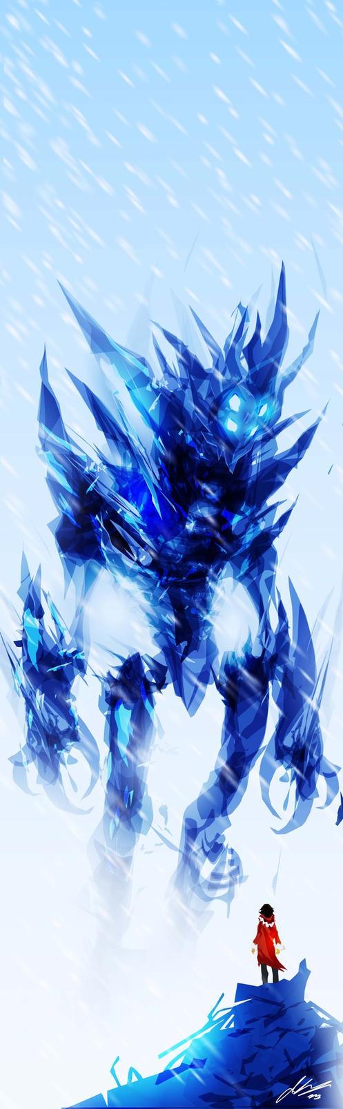 Ice Titan Speedpaint by ChasingArtwork