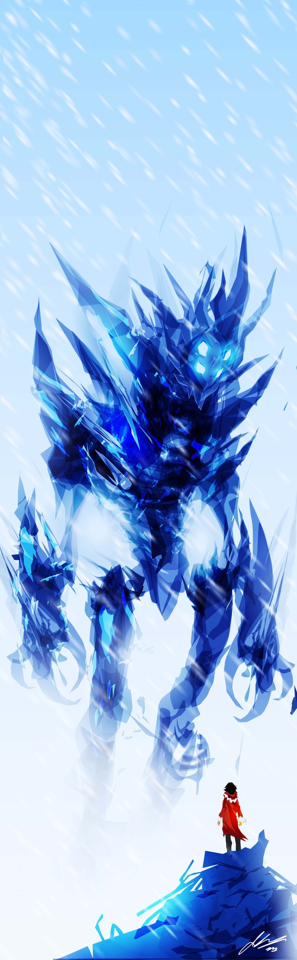 Ice Titan Speedpaint by ChasingArtwork