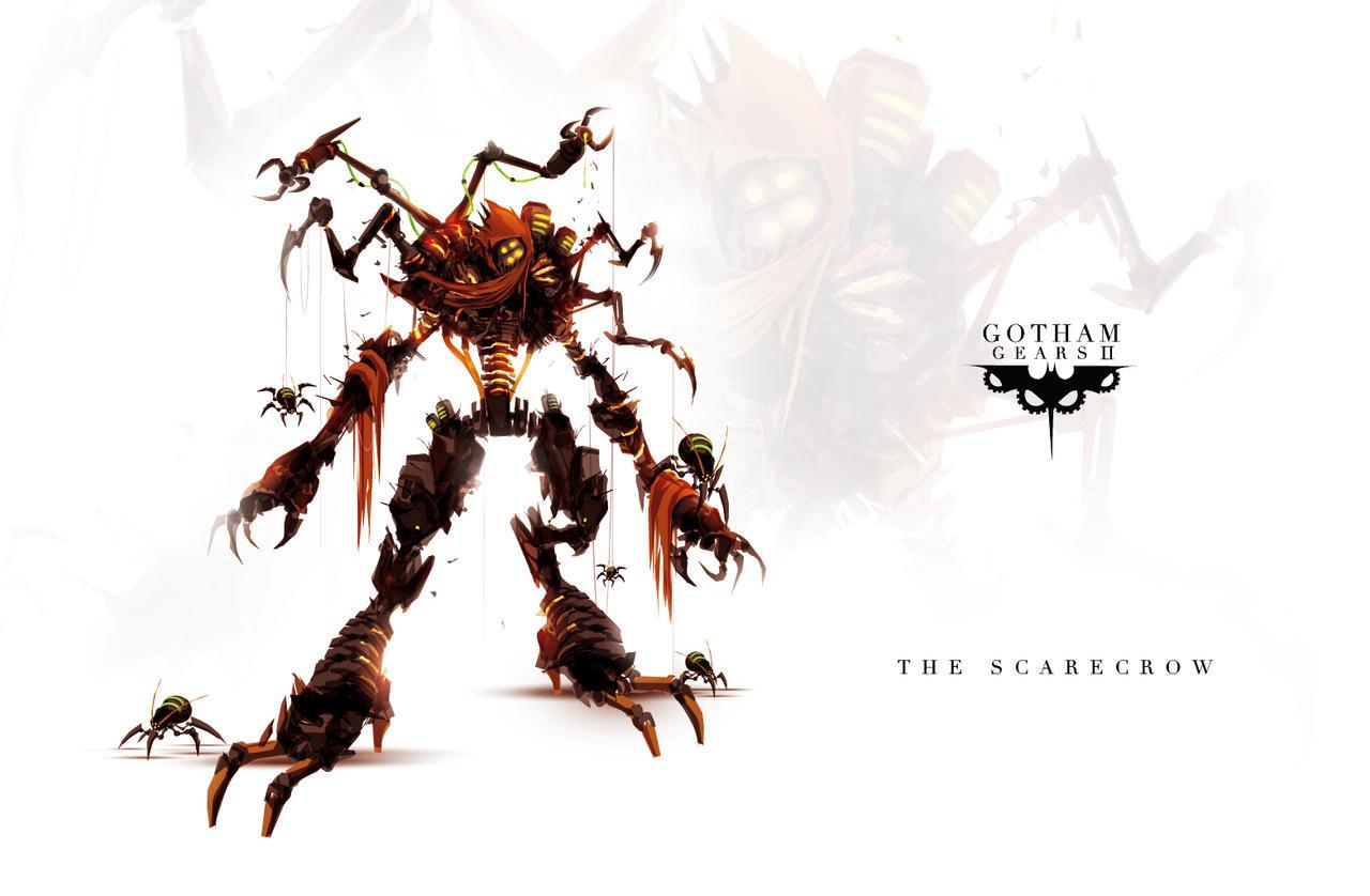 Gotham Gears II: Scarecrow by ChasingArtwork