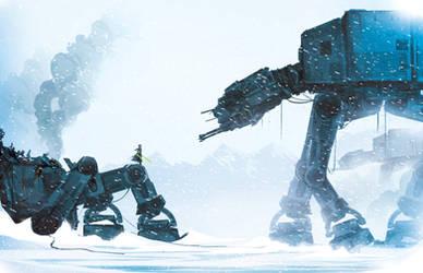 Jedi in a snowstorm