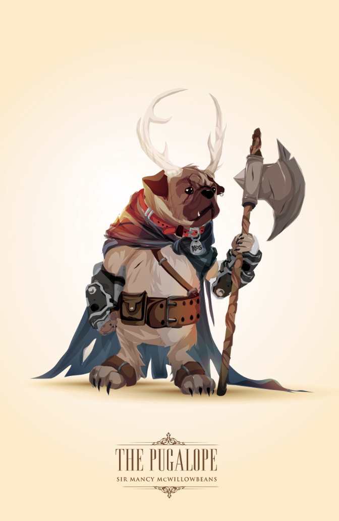 The Pugalope by ChasingArtwork
