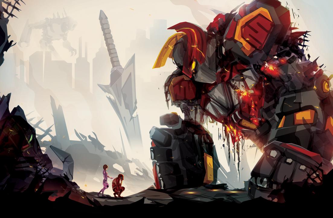 Fallen Zord by ChasingArtwork