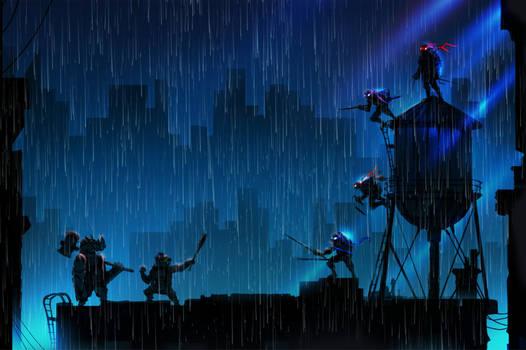 Rainy Rooftop Rumble!!!!