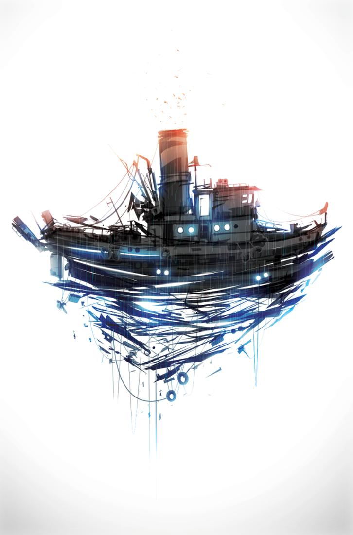 Tug Boat by ChasingArtwork