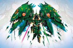 NZ-666 Kshatriya Gundam by ChasingArtwork