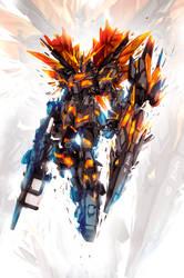 Gundam 02 Banshee by ChasingArtwork