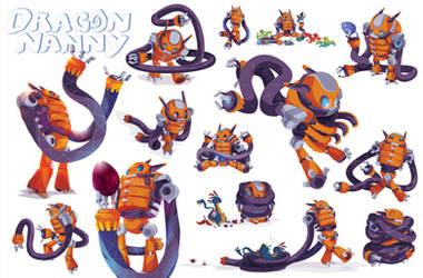 Dragon Nanny Robot Character sheet