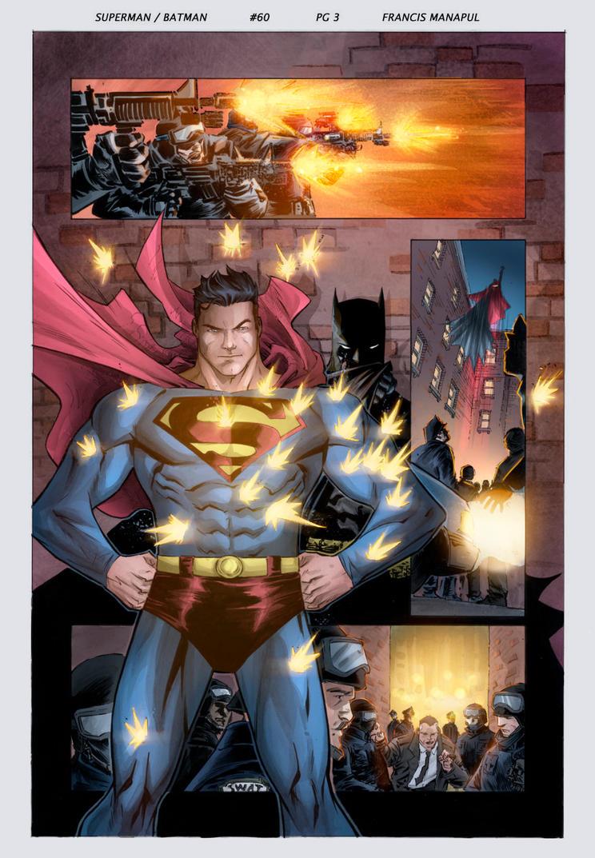 Color Practice Superman/Batman by E-m2