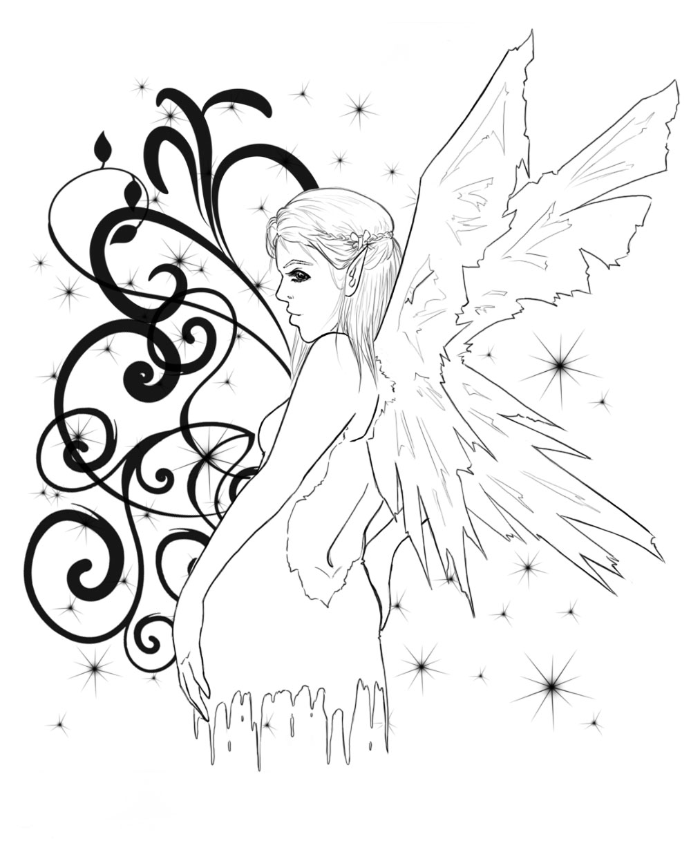 fairy tattoo by emo nerd on deviantart. Black Bedroom Furniture Sets. Home Design Ideas
