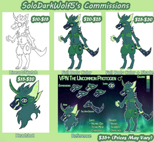 Commissions are OPEN!! (Prices)