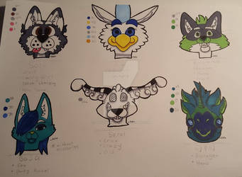 Some of my Characters - 2020