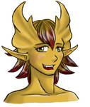 Brass dragon elf