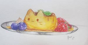 Flan cat by meowmeow10x