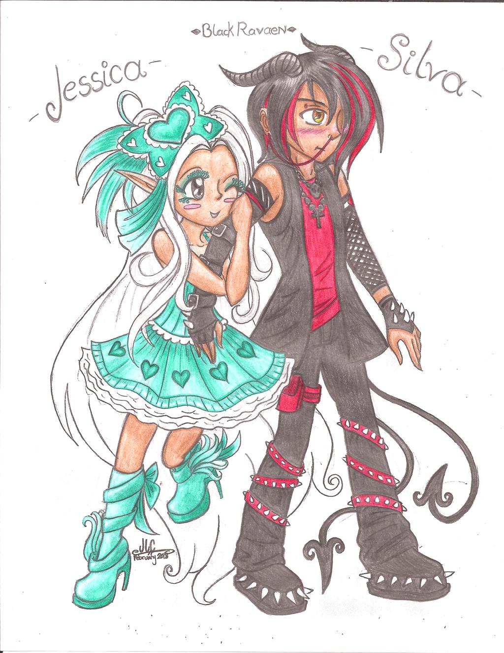 Black Ravaen's Request - Jessica and Silva by HirokoTheHedgehog