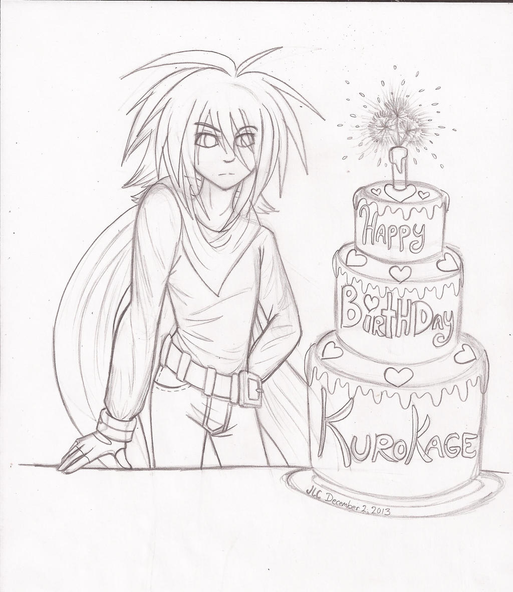 Happy Birthday Kurokage 2013 by HirokoTheHedgehog