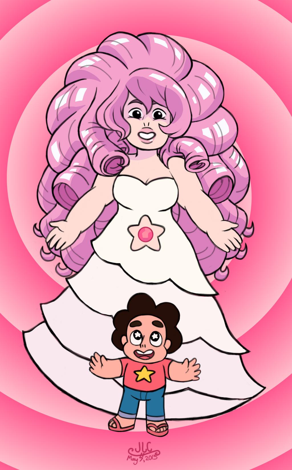 Steven Universe Sketch Rose: Steven Universe + Rose Quartz By HirokoTheHedgehog On
