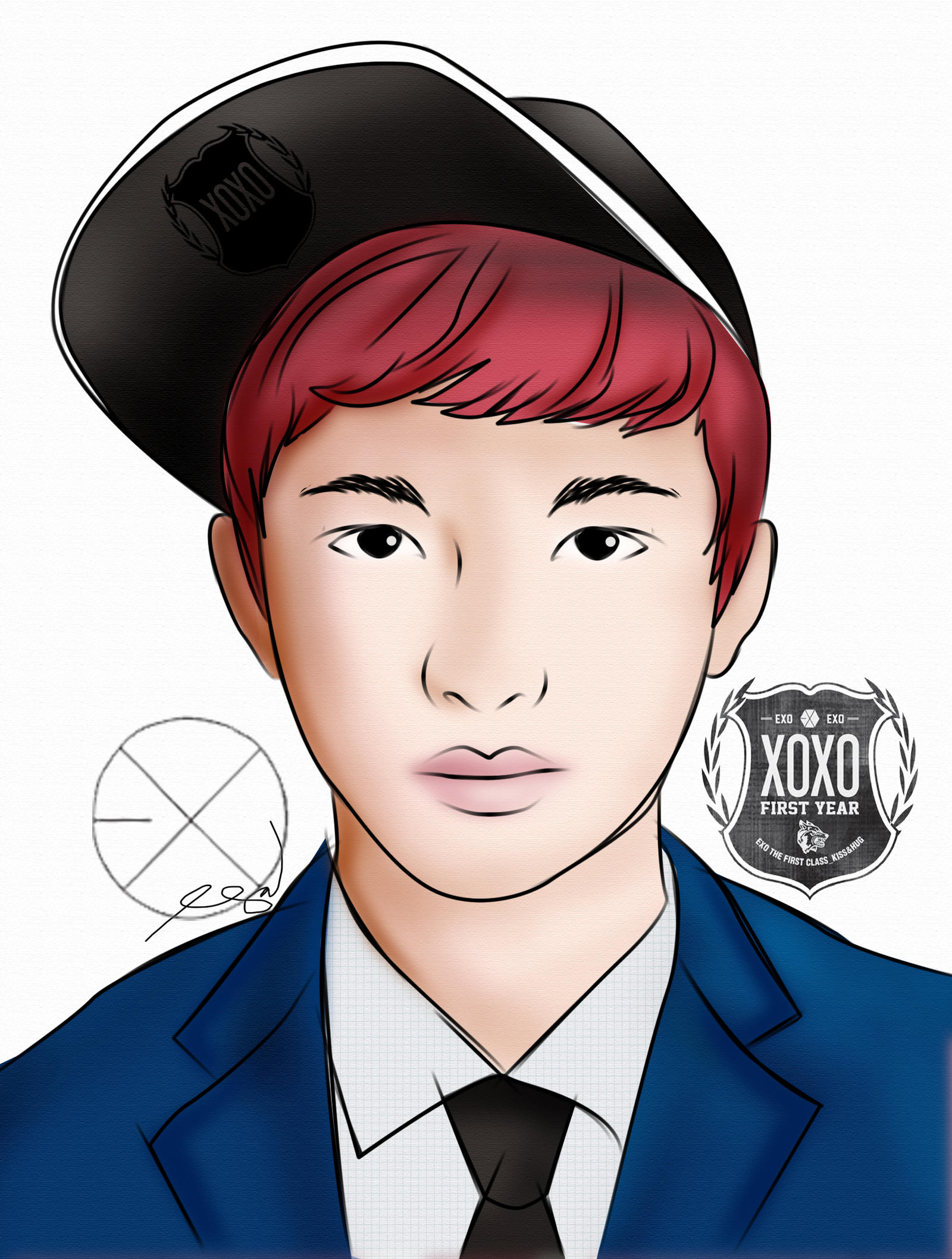 EugineNisperos Kyungsoo Fanart XOXO By