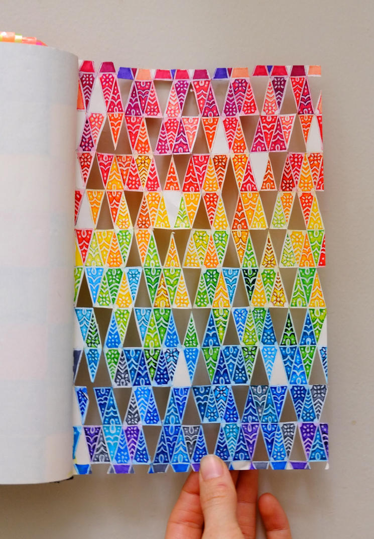 colorful triangles by Aphrena